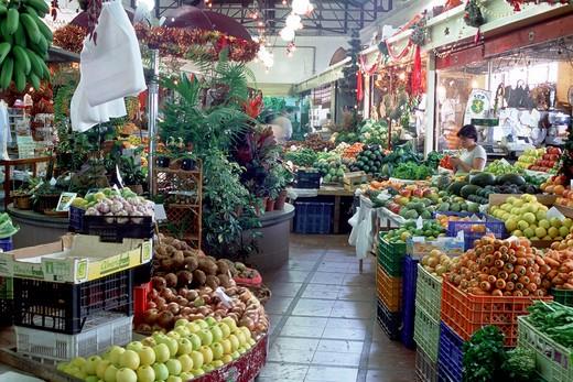 Market, Funchal, Madeira Island, Portugal, Europe  : Stock Photo