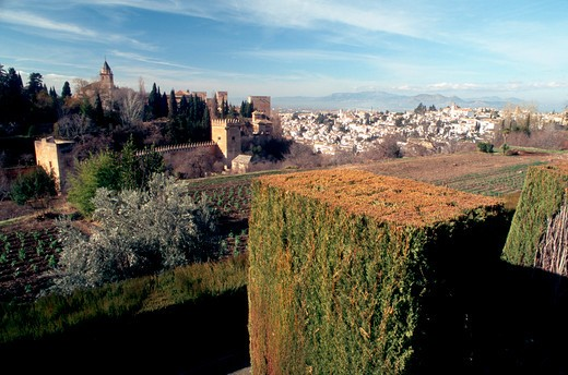 Village view, Alhambra, Andalusia, Spain, Europe : Stock Photo