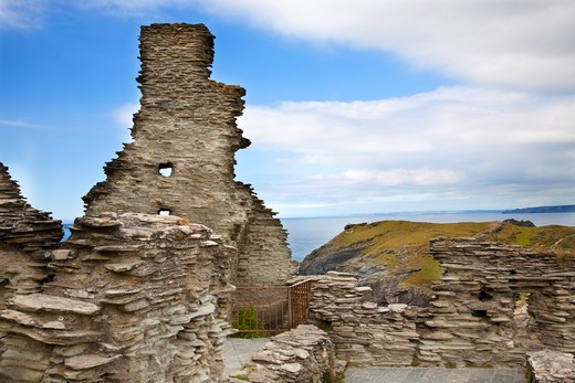 Stock Photo: 4261-27988 Tintagel Castle, Tintagel, Cornwall, England, Great Britain