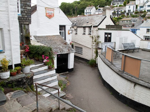 Historic Fishing Village, Polperro, England, Great Britain : Stock Photo