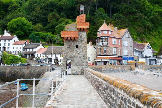 Lynmouth, North Devon, England, Great Britain : Stock Photo