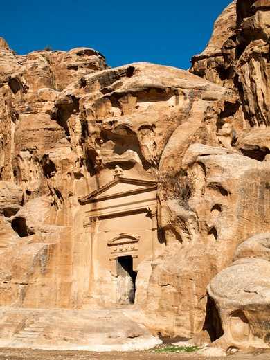 Middle East, Jordan, Little Petra, Beida, Al Beidha is a very important site for visitors in Wadi Musa : Stock Photo