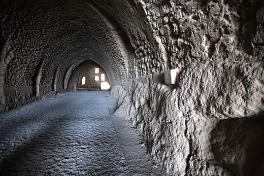Middle East, Jordan, Karak Castle, the famous Crusader castle : Stock Photo