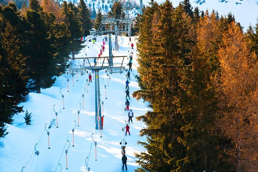 Skilift, Bormio, Sondrio, Lombardy, Italy, Europe : Stock Photo