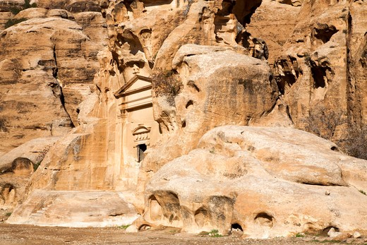 Middle East; Jordan; Little Petra; Beida; Al Beidha is a very important site for visitors in Wadi Musa : Stock Photo