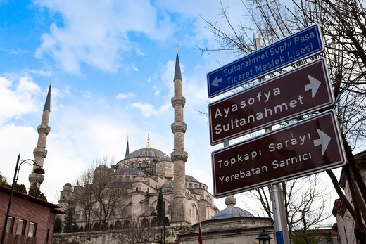 The Sultan Ahmed Mosque, Blue Mosque, Istanbul, Sultanahmet Camii, Turkey.