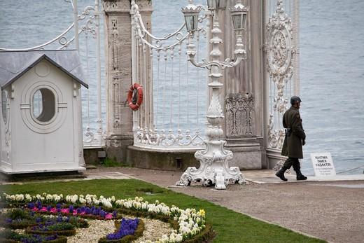 Dolmabahçe Palace, Dolmabahçe Sarayi, Istanbul Turkey : Stock Photo