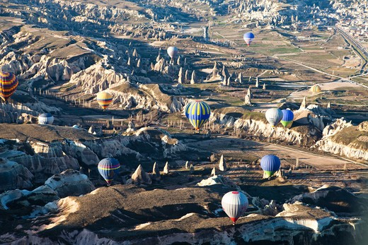 Stock Photo: 4261-29169 Hot Air Balloon, Goreme, Cappadocia, Turkey