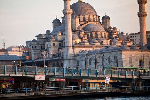 Stock Photo: 4261-29193 New Mosque, Istanbul, Turkey