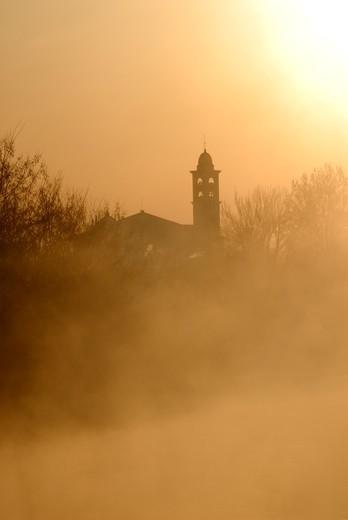 Fog, Boffalora Sopra Ticino, Lombardy, Italy : Stock Photo