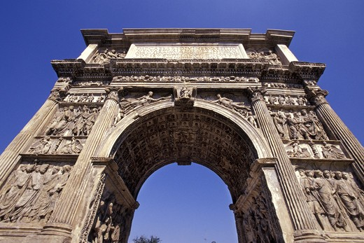 Traiano arch, Benevento, Campania, Italy : Stock Photo
