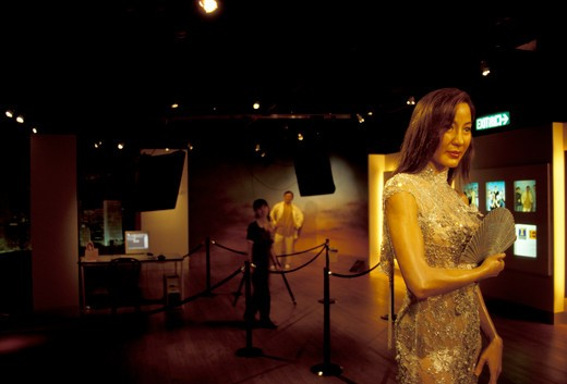 Michelle Yeoh statue, Madame Tussaud's  Wax Museum, Victoria Peak, Hong Kong, China, Asia : Stock Photo