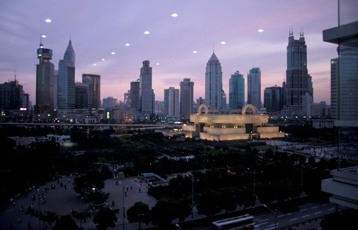 Stock Photo: 4261-34667 View of the city, Shanghai, China, Asia