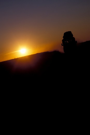 Taxi brusse at sunset, Madagascar, Africa : Stock Photo