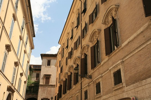 Stock Photo: 4261-35983 Boncompagni Corcos palace, Orologio square, Parione district, Rome, Lazio, Italy