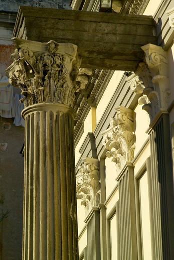 San Paolo Maggiore church, Naples, Campania, Italy : Stock Photo