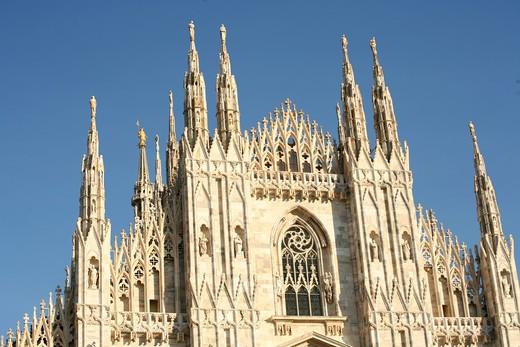 Duomo, detail, Milan, Lombardy, Italy : Stock Photo