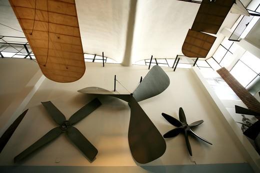 Museo Nazionale della Scienza e della Tecnologia, National Science and Technology Museum Leonardo da Vinci , Air-Sea Pavillon, Milan, Lombardy, Italy : Stock Photo