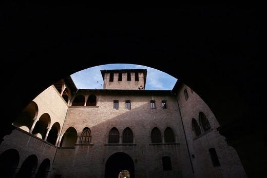 Rocca di San Vitale fortress, XV sec, Fontanellato, Parma, Emilia Romagna, Italy : Stock Photo