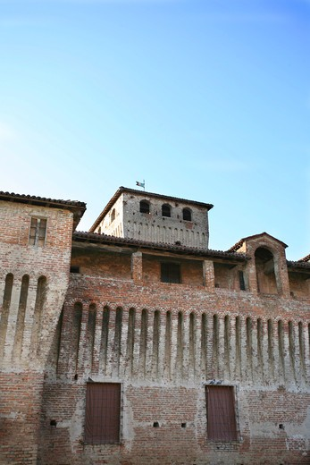 Castle of Roccabianca, Castles of the Duchy of Parma and Piacenza, Roccabianca, Parma, Emilia Romagna, Italy : Stock Photo