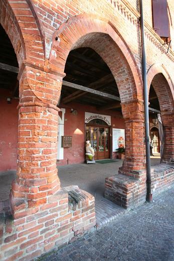 Zibello, historical centre, Parma, Emilia Romagna, Italy : Stock Photo