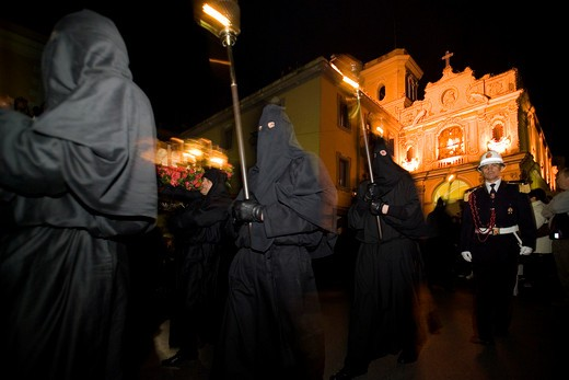 Good Friday procession, Sorrento, Campania, Italy : Stock Photo