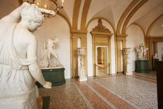 Stock Photo: 4261-39177 Sala I, La Filatrice statue, Rudolph Schadow, Modern Art Museum, Villa Reale, Galleria d'Arte Moderna, Via Palestro 16, Milan, Lombardy, Italy, Europe