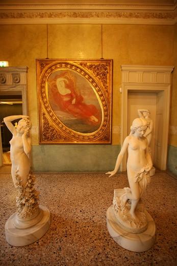 Sala XXVIII, Dea dell'amore, Giovanni Segantini painter, Modern Art Museum, Villa Reale, Galleria d'Arte Moderna, Via Palestro 16, Milan, Lombardy, Italy, Europe : Stock Photo
