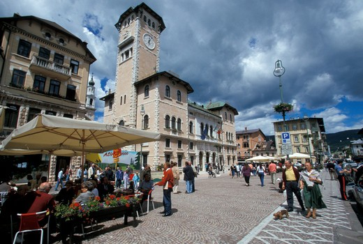 Stock Photo: 4261-39933 Piazza Carli, Asiago upland, Veneto, Italy