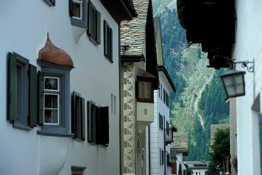 Foreshortening, Sils Maria, Engadina, Switzerland, Europe : Stock Photo