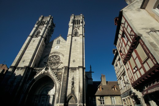 Stock Photo: 4261-41282 Saint Vincent Cathedral, Chalone sur Saone, Bourgogne, France, Europe