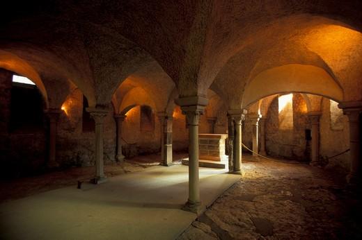 Stock Photo: 4261-41292 Cathedral of La Madeleine,  regional park of Morvan, Bourgogne, France, Europe