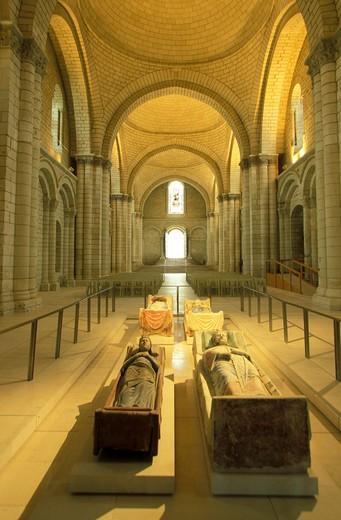 Fonteuraud  Abbey, Pays de la Loire, France, Europe : Stock Photo