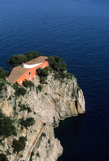 Curzio Malaparte house, Capri island, Campania, Italy : Stock Photo