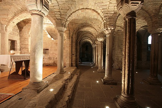 Stock Photo: 4261-41520 Crypt, Abbey church, Abbadia San Salvatore, Monte Amiata (Siennese Side) area, Tuscany, Italy