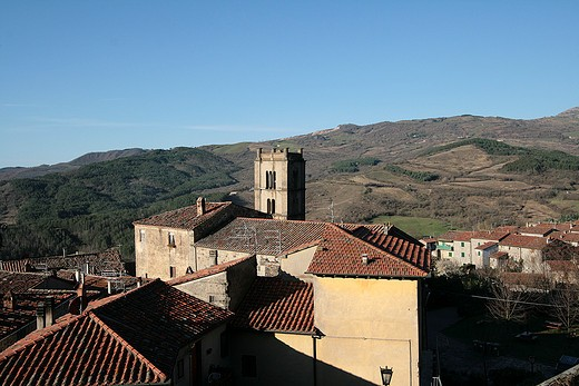 Sant'Agostino monastery, Santa Fiora, Monte Amiata area, Tuscany, Italy  : Stock Photo
