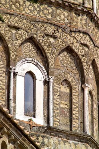 Stock Photo: 4261-4189 Tiburio, Cathedral, Caserta Vecchia, Campania, Italy