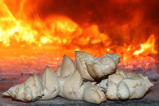 Stock Photo: 4261-42614 Coccoi bread, artisan bakery Scintu, Genuri, Medio Campidano Province, Sardinia, Italy