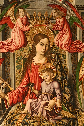 Stock Photo: 4261-42635 Virgin in throne with the Child, Saltar-piece, 