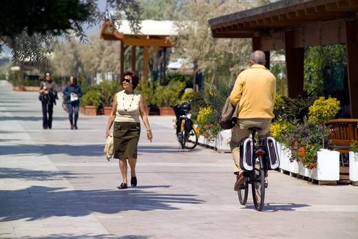 Riviera street, Pescara, Abruzzo, Italy : Stock Photo