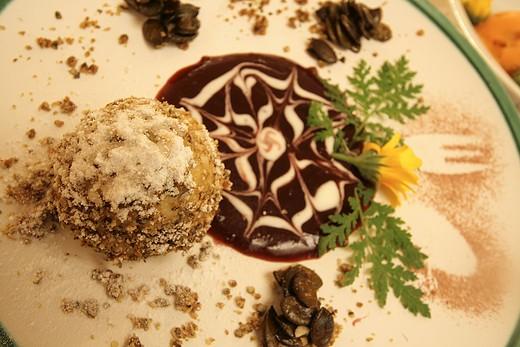 Stock Photo: 4261-43275 Semifreddo with pistachios and chocolate, Castle of Kapfenstein, Styria, Austria Europe