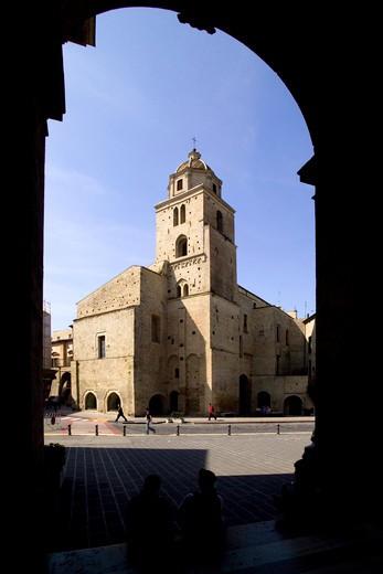 Stock Photo: 4261-4356 View of San Francesco sanctuary from Madonna del Ponte church, Lanciano, Abruzzo, Italy