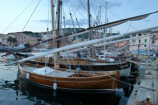 Harbour, Cala Gavetta, La Maddalena island, Sardinia, Italy : Stock Photo