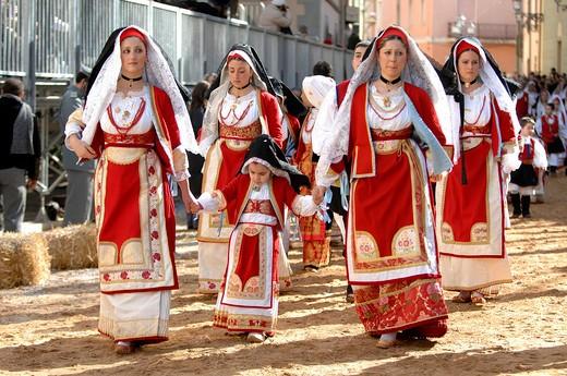 Stock Photo: 4261-45224 Typical clothes, Sartiglia feast, Oristano, Sardinia, Italy