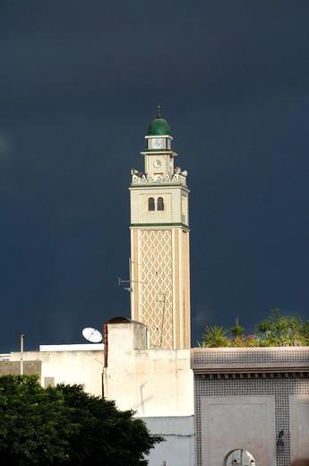 Foreshortening, Sidi Bou Said, Tunisia, North Africa, Africa : Stock Photo