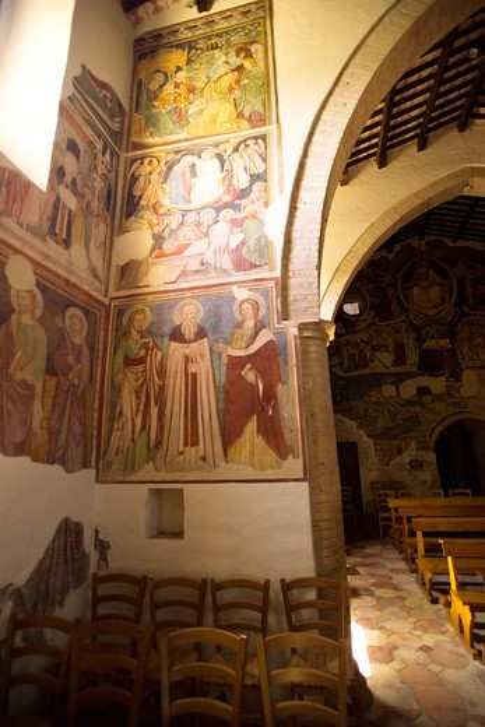 Stock Photo: 4261-4546 Santa Maria in Piano abbey, Loreto Aprutino, Abruzzo, Italy