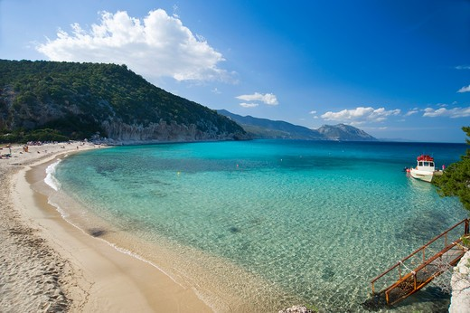Cala Luna, Baunei, Dorgali, Provincia di Nuoro, Provincia dell'Ogliastra, Sardinia, Italy, Europe : Stock Photo