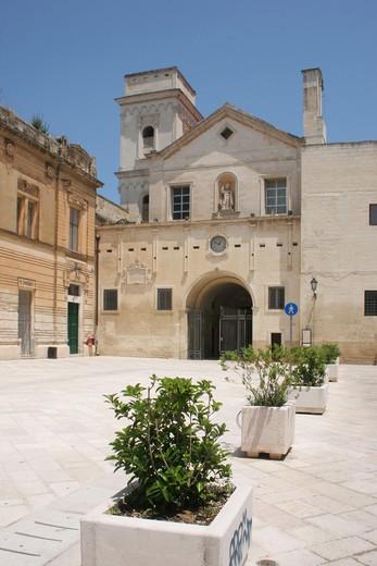 San Giovanni Evangelista church , Lecce, Salentine Peninsula, Apulia, Italy : Stock Photo