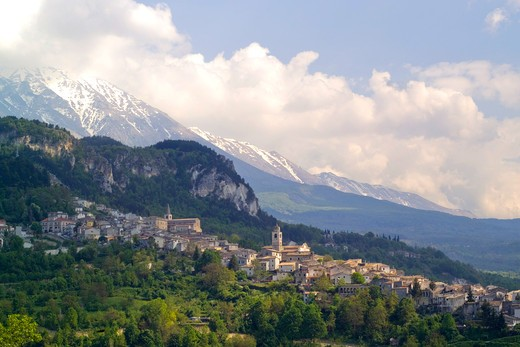 Landscape, Caramanico Terme, Abruzzo, Italy : Stock Photo