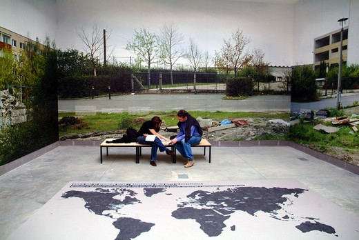 C On Cities exibition, Italia pavilion, Biennale di Architettura exibition, Venice, Veneto, Italy : Stock Photo